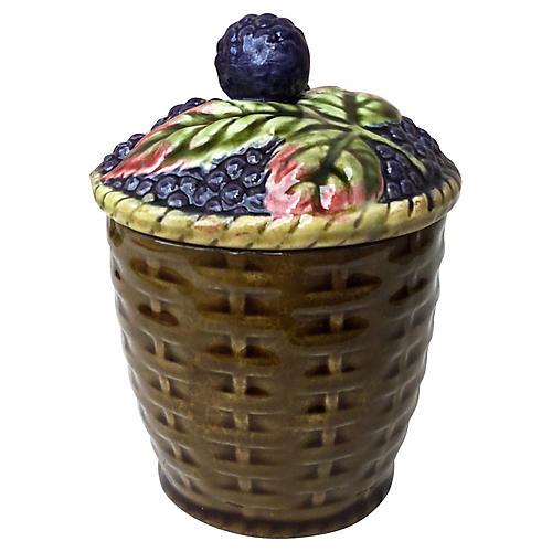 Majolica Blackberries Tureen