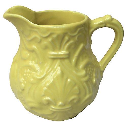 Yellow Majolica Creamer
