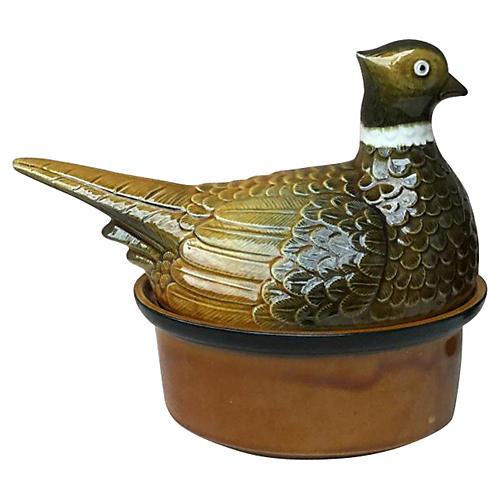 Majolica Pheasant Tureen