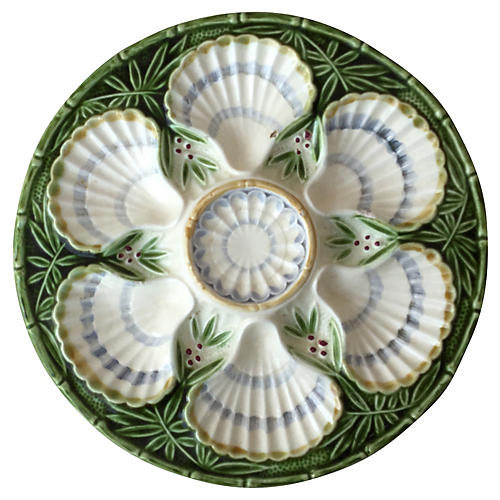Salins Majolica Oyster Plate