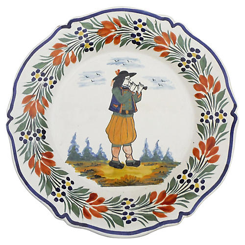 Quimper French Faience Plate
