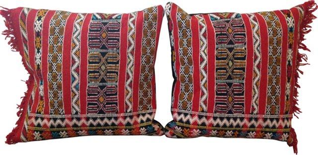 Moroccan Pillows, Pair