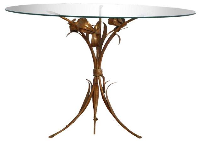 Floral Gilt Metal Table