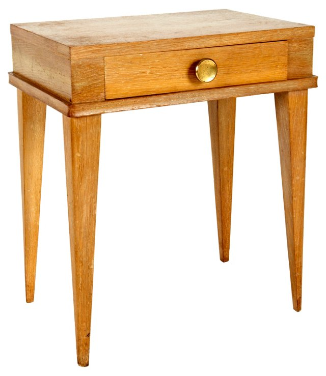 French Cerused Oak Side Table