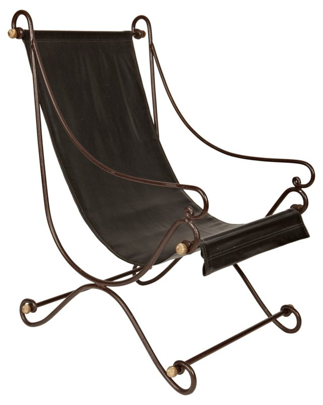 Jansen-Style Campaign Lounge Chair