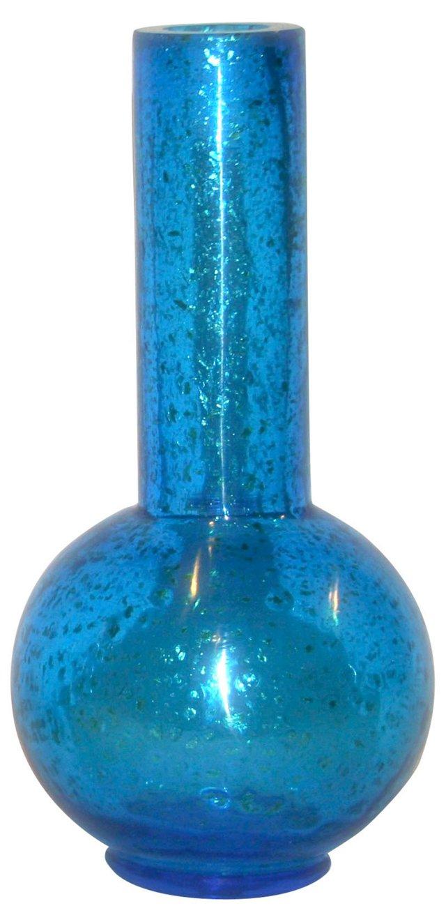 Azure Aventurine Peking Glass Vase