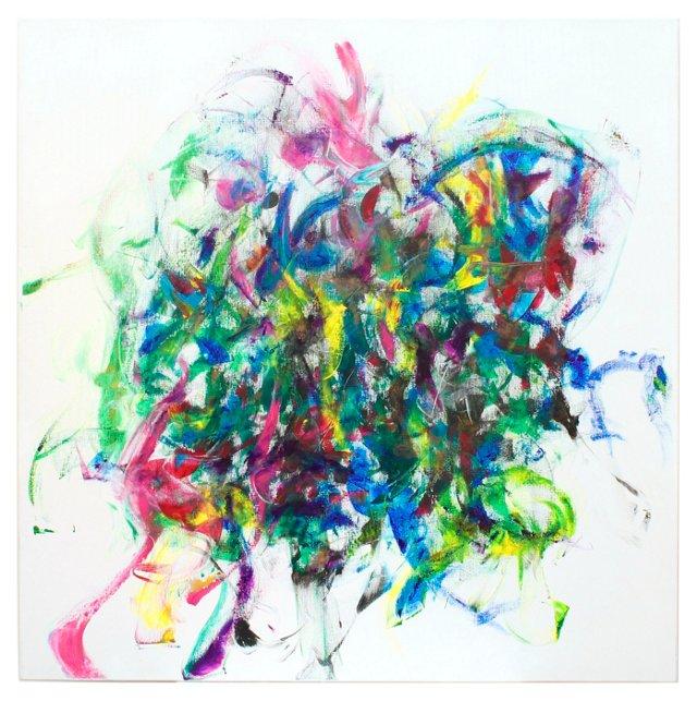 Unfolding by Ty Rose, 4' x 4'