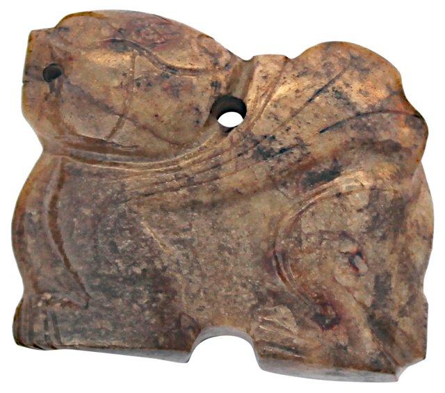Antique Carved Stone Foo Dog