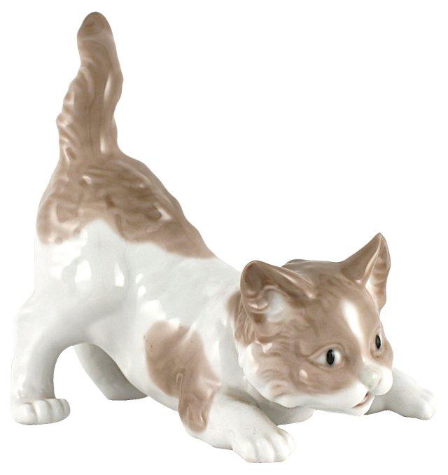 Retired  Lladró Playful Cat, 1979