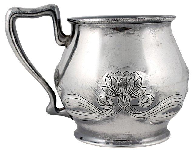 Antique Forbes Silver Lotus Motif Cup