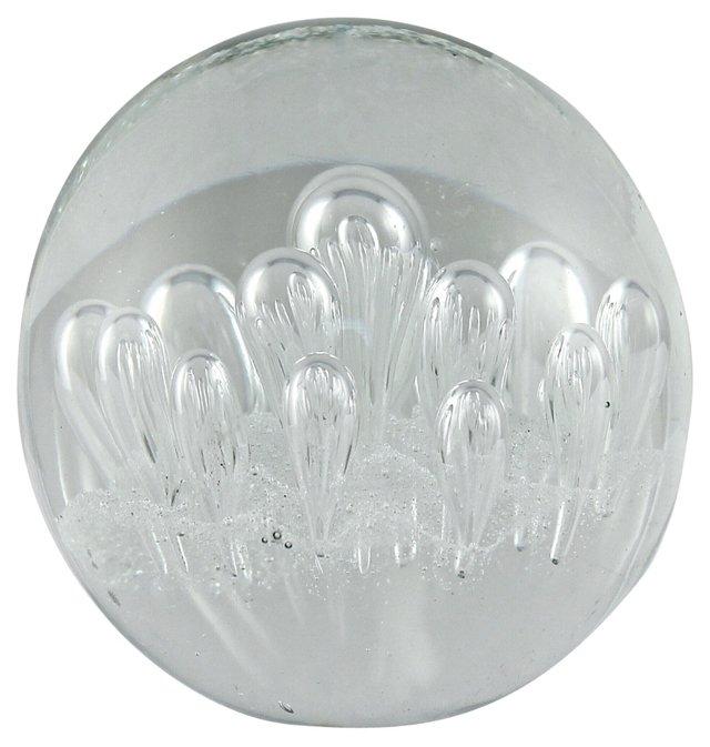 Handblown Glass Bubble Paperweight
