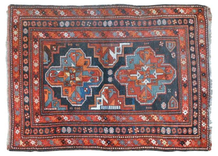 "Antique Persian Hamadan, 5' x 3'10"""