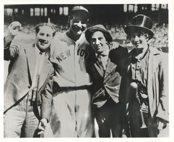 The Marx Brothers with Lou Gehrig