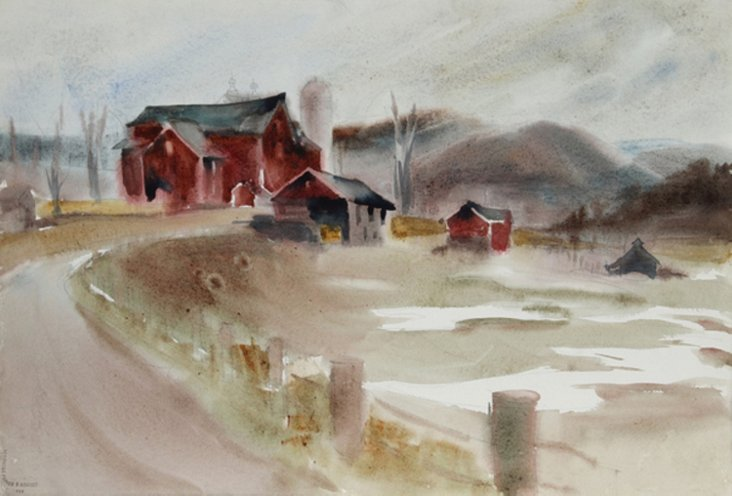 Big Red Barn by E. Nethercott
