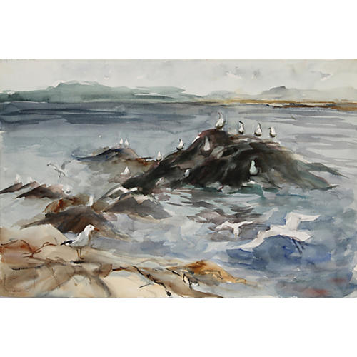 Seagulls at Sea by Nethercott