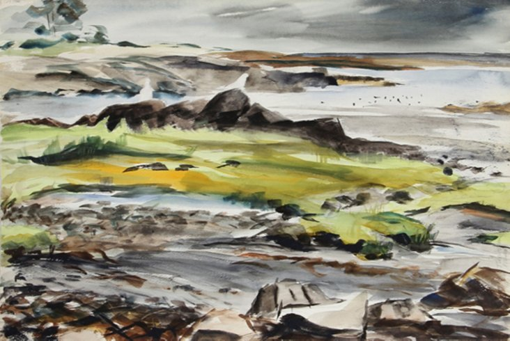Rocky Seascape by Nethercott