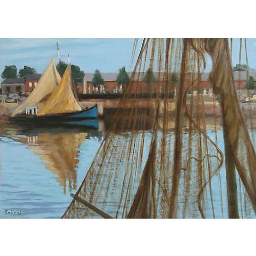 Les Filets, Normandie by L. M. Salinas