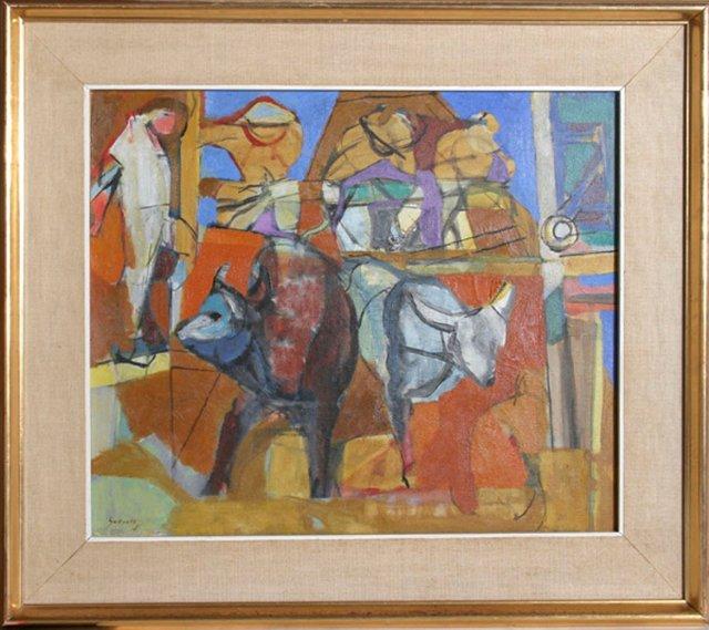 Cubist Bulls by Guevara-Moreno