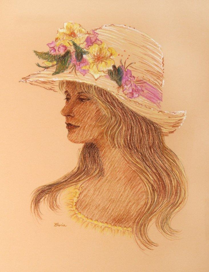 Woman w/ Flowered Hat