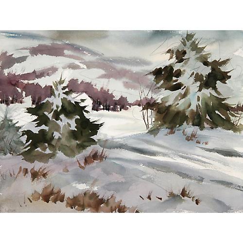 Snowy Woodstock by Lillis