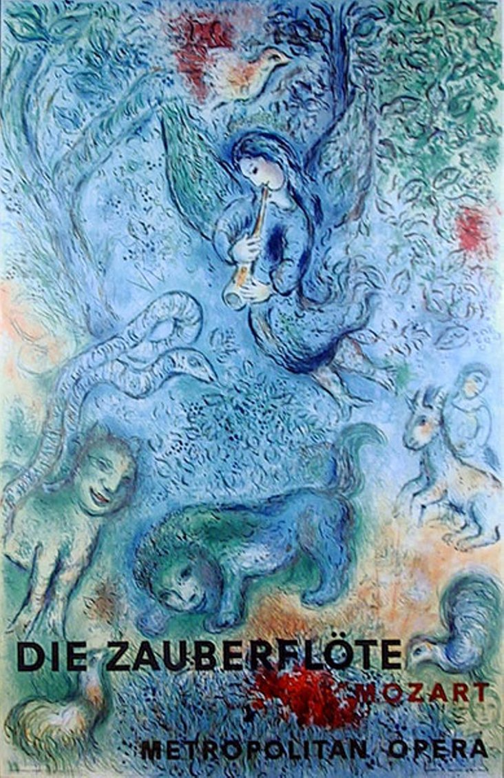 Metropolitan Opera Poster by Chagall