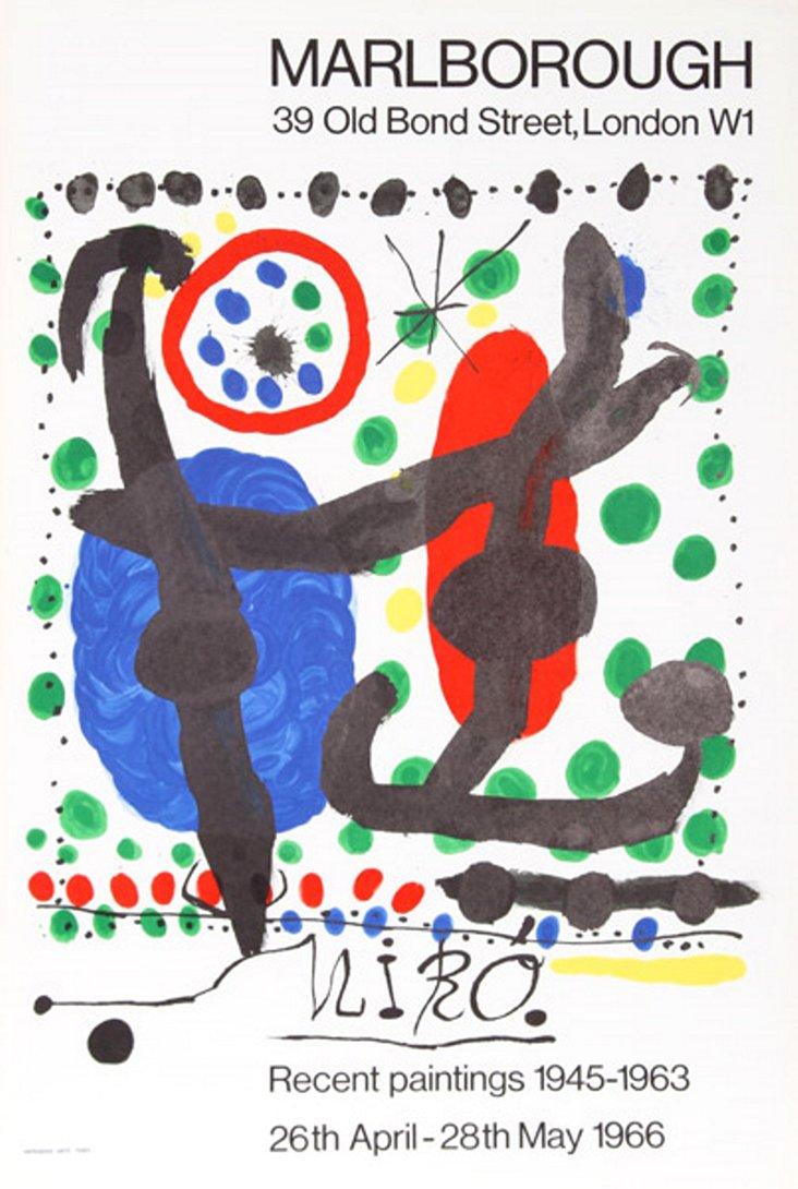Miró  Marlborough Exhibition Poster