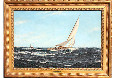 Sailboat Race by H. Scott