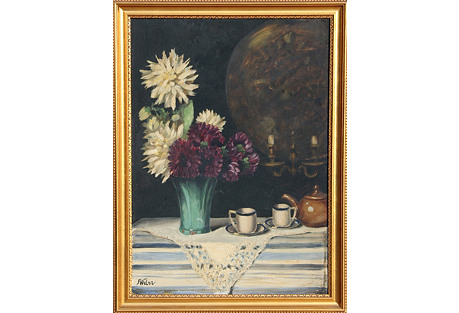 Still Life w/ Flowers by F. Weber