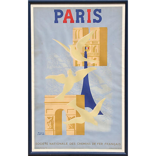 Paris Poster by Paul Colin