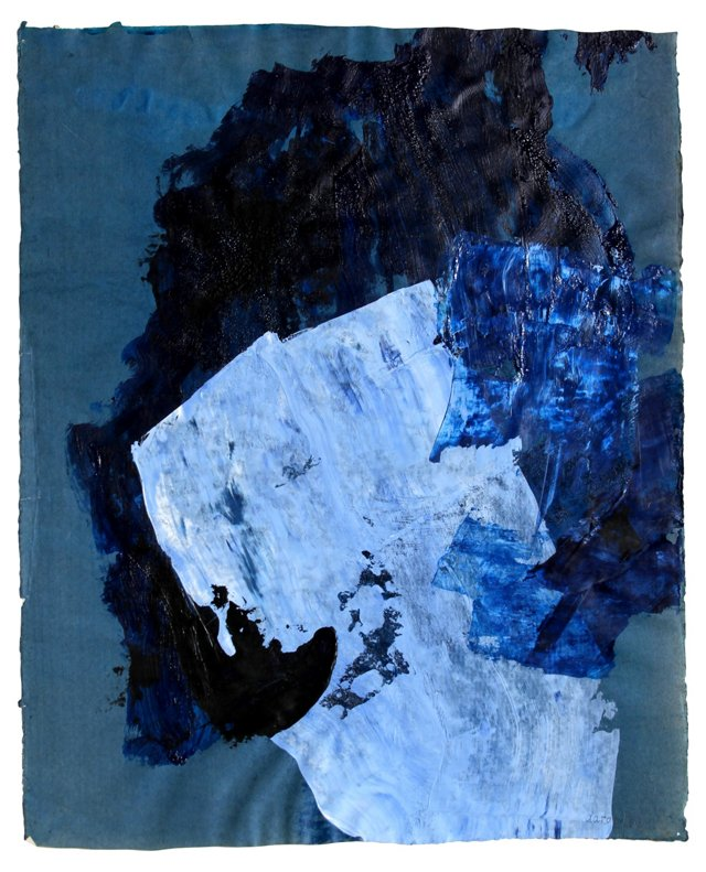 Abstract Expressionism in Blue by Levy