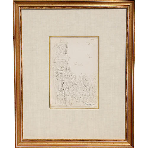 Drawing of Paris by Dimitrie Berea