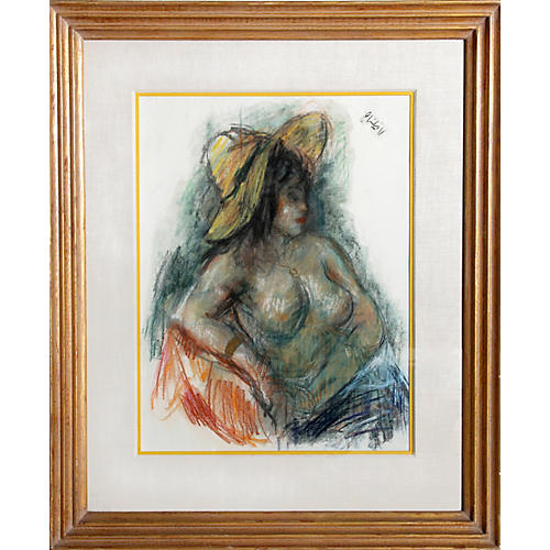 Nude in Yellow Hat by Robert Philipp