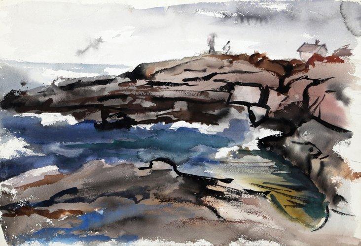 Rocky Seascape by Eve Nethercott