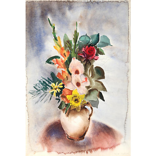 Vase of Flowers by Eve Nethercott