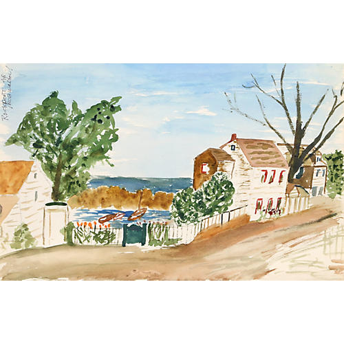 Rockport Watercolor by Eve Nethercott
