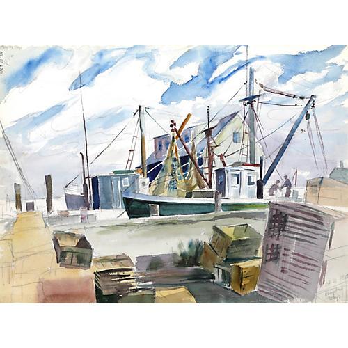 Hampton Bays Watercolor by Nethercott