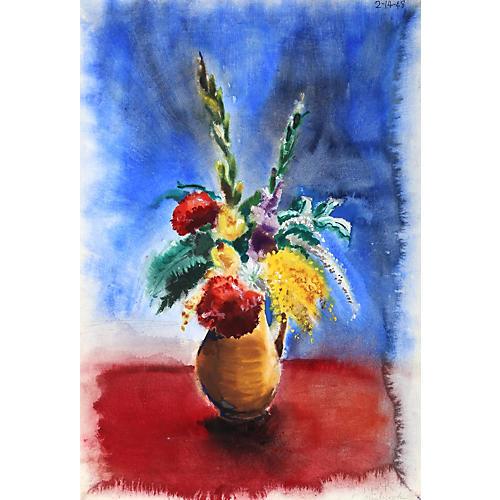 Flowers III Watercolor by Nethercott