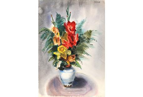 Flowers VI Watercolor by Nethercott