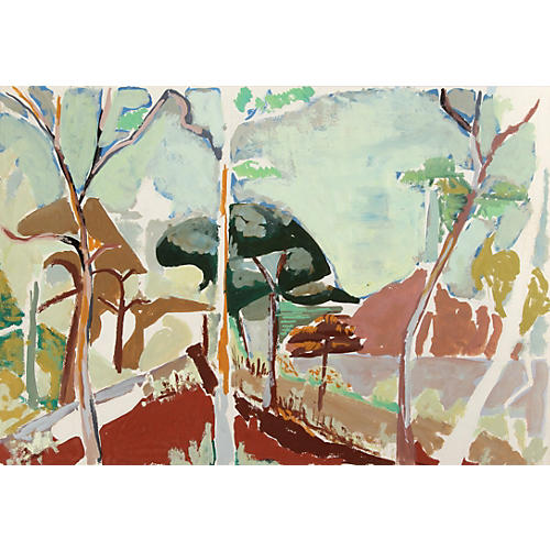 Landscape I Watercolor by Baudrot