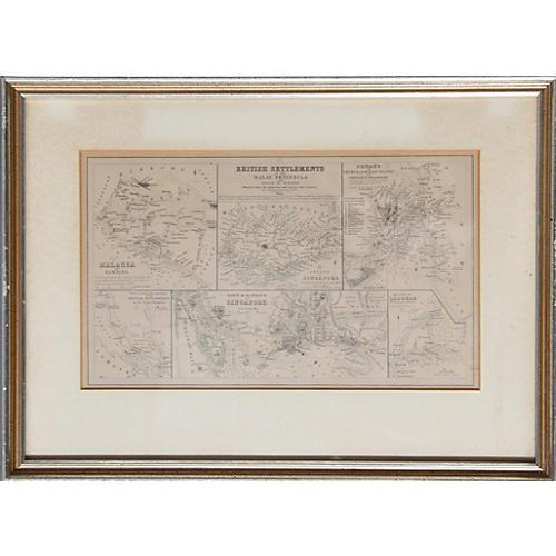 British Settlements by John Bartholomew