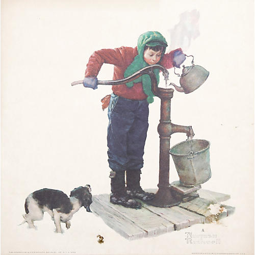 The Cold by Norman Rockwell