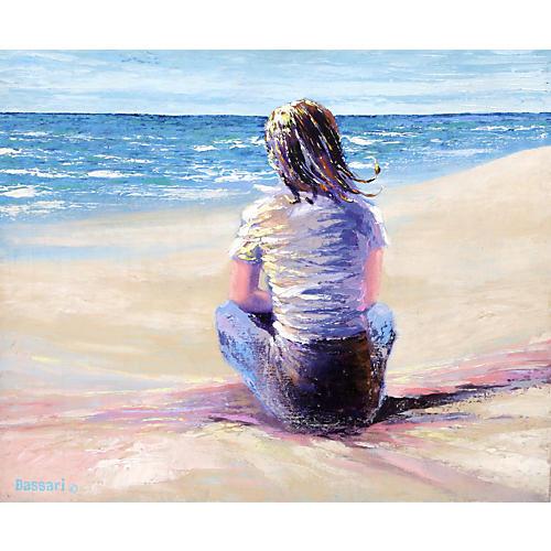 Girl on Beach II by Bassari