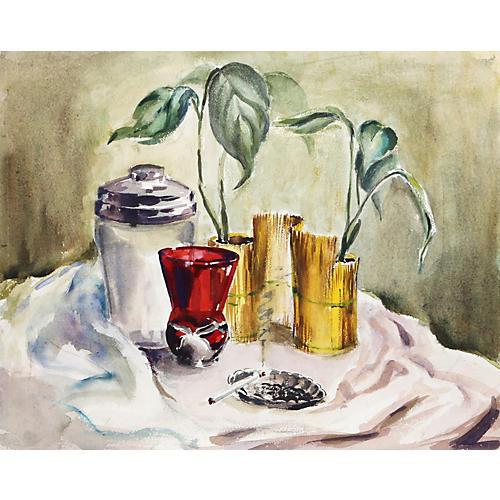 Still Life w/Cigarette by Eve Nethercott