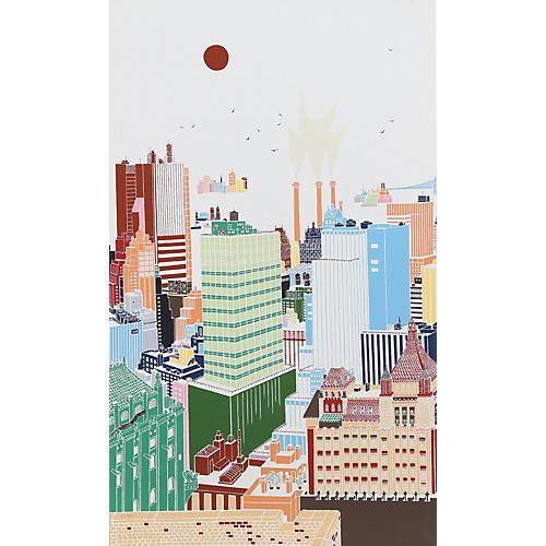 New York Skyline II by Mori Shizume