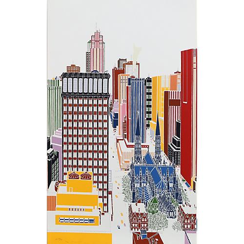 New York Skyline V by Mori Shizume