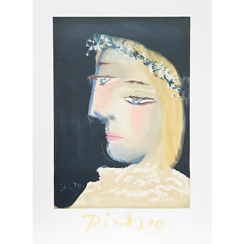 Femme Couronee/Picasso Estate Lithograph