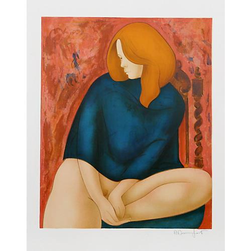 Portrait in Blue by Alain Bonnefoit