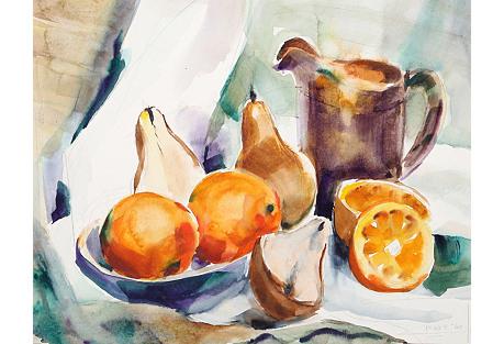 Still Life w/ Fruit by Eve Nethercott