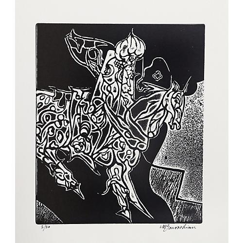 Persian Rider by Martin Barooshian