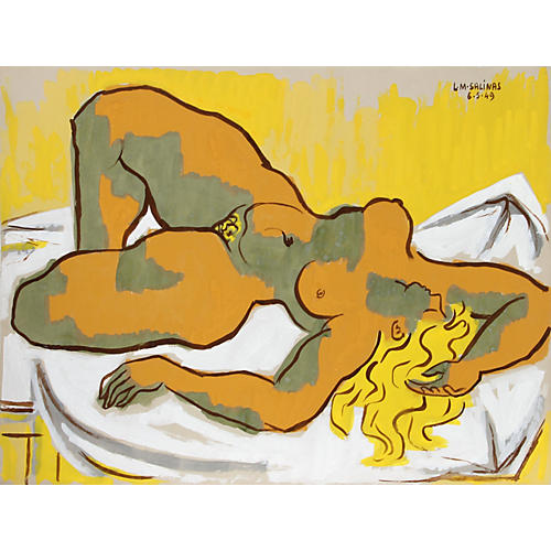 Yellow Nude by Laurent Marcel Salinas